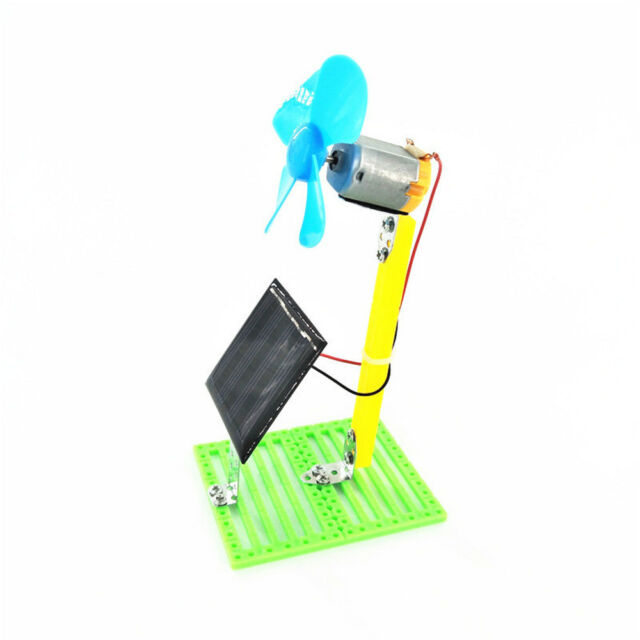 Solar Powered Electric Fans Physics Motor Circuit Device Kit Science DIY Toys
