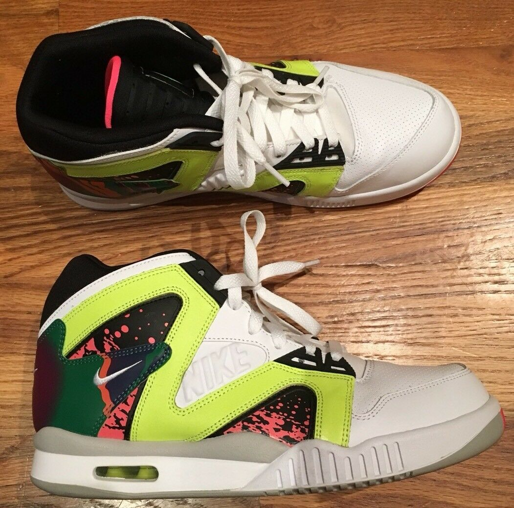 Brand discount Nike Air Tech Challenge Hybrid White/White-Volt Hot Lava Mens Comfortable
