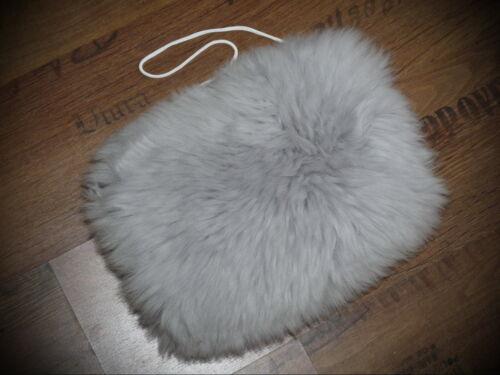 Mon chien en véritable mouton peau lainee avec poche intérieure pour compresse couleur gris