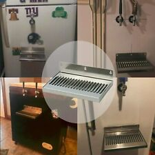10 X 6 Kegerator Drip Tray Stainless Removable Grate Wall Mount Draft Beer New