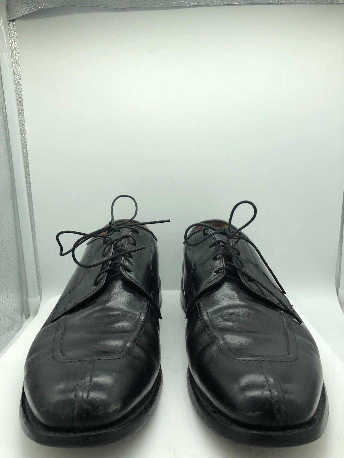Allen Edmonds  Hancock  Split Toe Oxfords  Size 11 D Black Leather Dress shoes