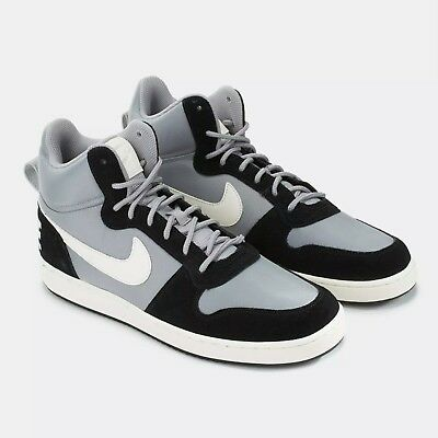 reasonably priced exclusive range new release Nike Court Borough Mid Premium 844884-005 Mens Shoes Black & Silver 10  SALE!!!!! | eBay