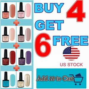 UV/LED Gel Nail Polish Shiny Matte Soak Off LED Salon Manicure Nail Art US Ship