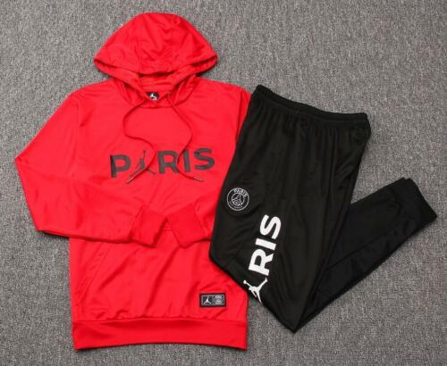 Paris Saint Germain PSG Pullover Training Jacket Tracksuit Suit red and black