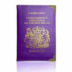 Royaume-Uni Porte-passeport etui housse texte collection 5