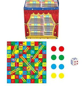 Party Bag Pack of 12 Snake and ladders mini games Christmas Stocking fillers