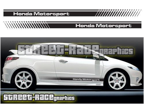 Honda side 001 racing stripes graphics stickers decals civic type r s jazz