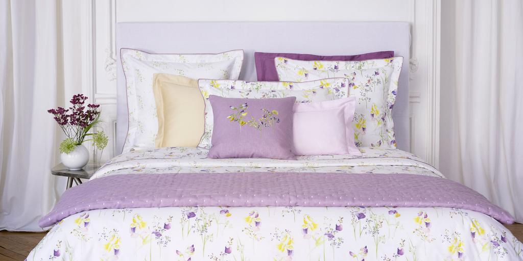 Nwt Neu Yves Delorme Senteur Pollen UK Queen 163x221cm oder King Bettbezug