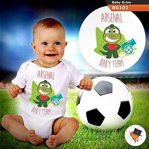 ARSENAL BABY FOOTBALL TEAM GUNNERS BABYGROW BABY GROW  ALL SIZES 1
