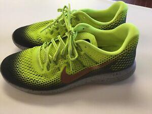 huge discount 7cc49 e5b85 Details about Nike Lunarglide 8 Shield 849568-700 Volt Men's shoes size 10.5