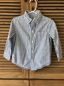 Janie-And-Jack-Blue-Checkered-Button-Down-Shirt-18-24-M