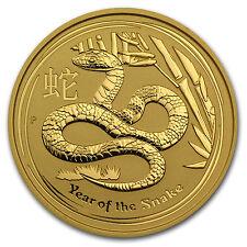 2013 2 oz Gold Australian Perth Mint Lunar Year of the Snake Coin - SKU #71320