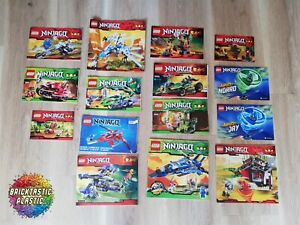LEGO-INSTRUCTIONS-ONLY-X15-Bulk-Ninjago-booklets-2508-9442-70721-12more
