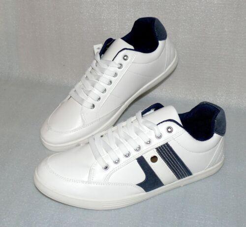 Moza-X Leder Herren Schuhe Freizeit Sport Lite Sneaker EU 43 UK 9 White Navy