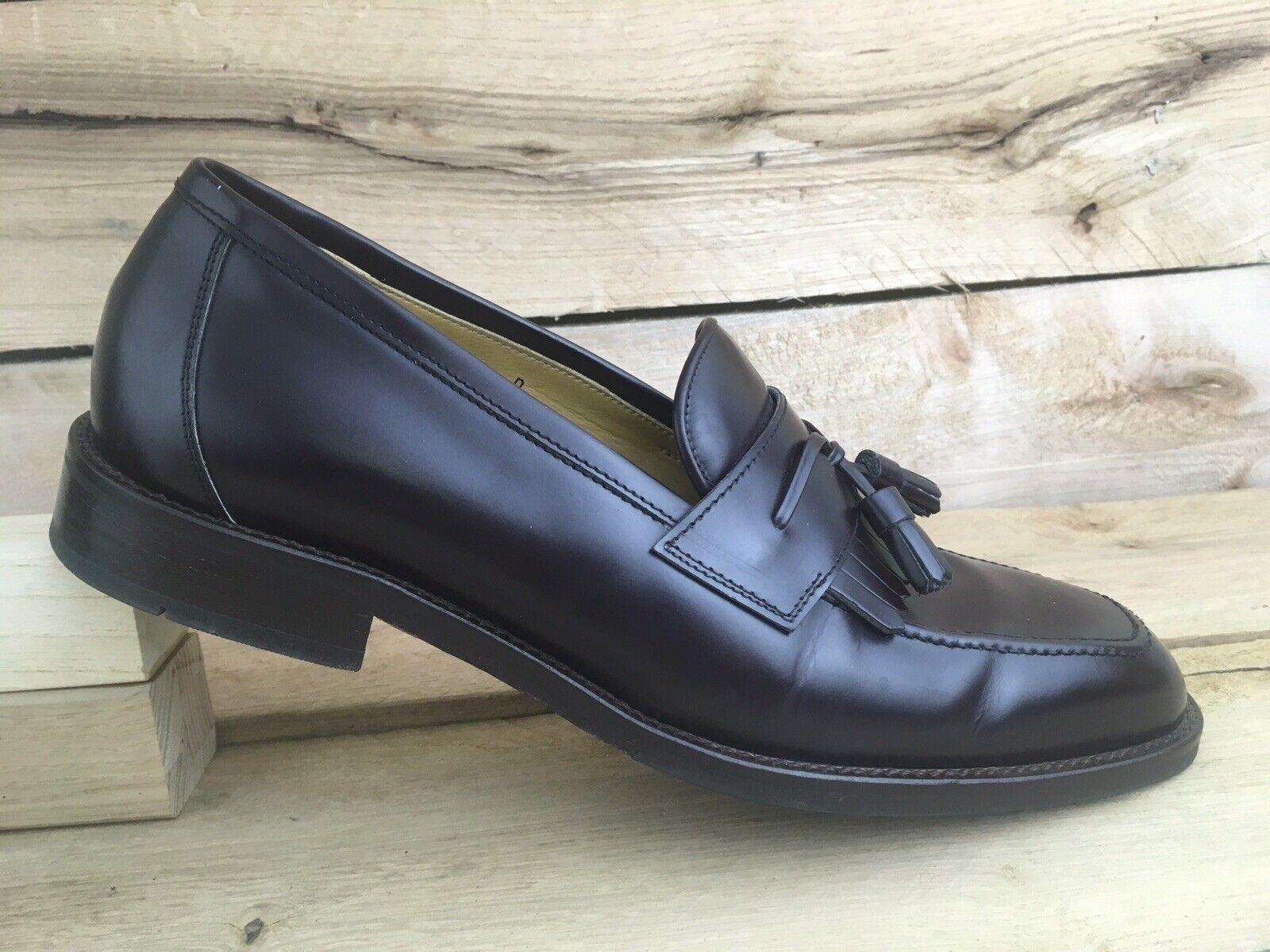 Daniel Cremieux Mens Burgundy Leather Tassel Loafer 4704 shoes Sz 10 D