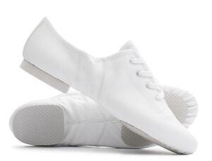 BLANC-PU-lacet-CAOUTCHOUC-dos-separe-SEMELLE-Jazz-DANSE-entrainement-chaussures