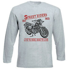 BENELLI 750 SEI - GREY LONG SLEEVED TSHIRT- ALL SIZES IN STOCK