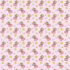 Printed Bow Fabric A4 Canvas Fairy Fairies & Stars on Pink F2 Make glitter bows