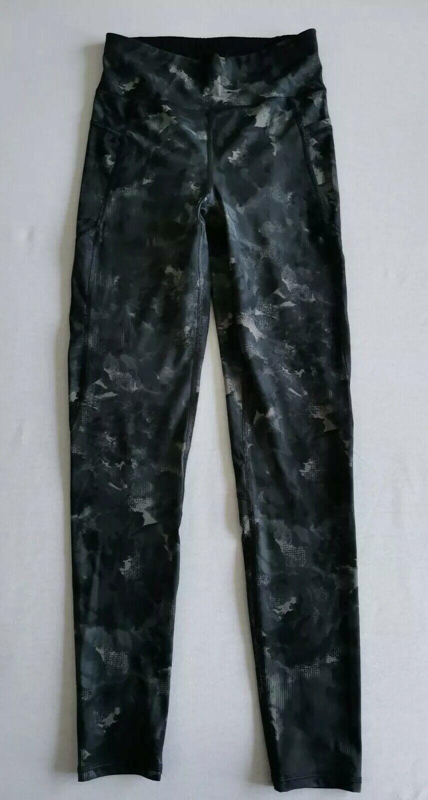 Sweaty Betty Zero Gravity Full Length Leggings - Black Grey Dot Camo Print - XS