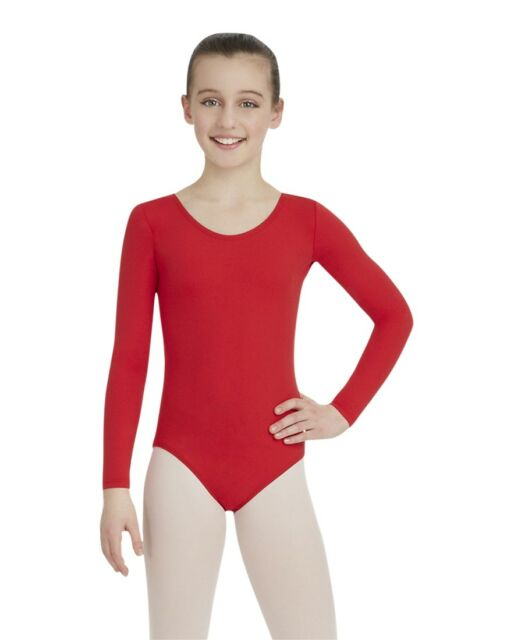 TB123C White NEW WITH TAGS Capezio Turtleneck Long Sleeve Leotard
