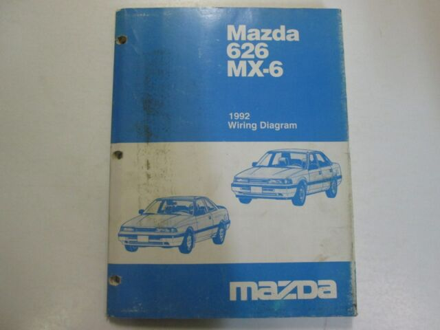 1991 Mazda 626 Mx 6 Mx6 Electrical Wiring Diagram Service Repair Oem 91