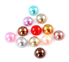 10 Cabochons demi-perle Rond mixte acrylique nacré 14 mm