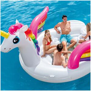 Intex 429cm Inflatable Play Island Kids Outdoor Swimming Pool Float Unicorn
