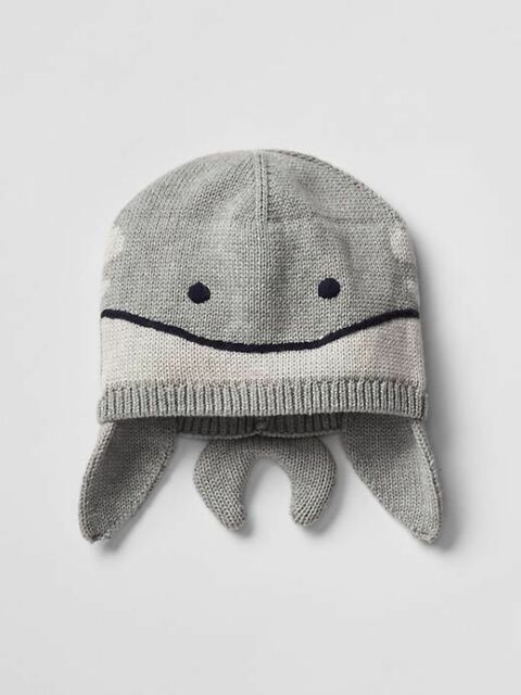 98bf16054d9 Buy Gap Baby Boys Size Newborn Gray   Blue Whale   Animal Sweater ...