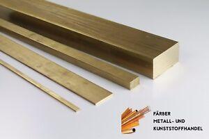 Messing 12x4 mm Flachmaterial Länge wählbar MS58 CW614N CuZn39Pb3 2.0401 Flach