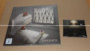 MUSE-DRONES-VINYL-ROUGE-SUPER-DELUXE-COLLECTOR-CD-2-TITRES-DEAD-INSIDE-NEU