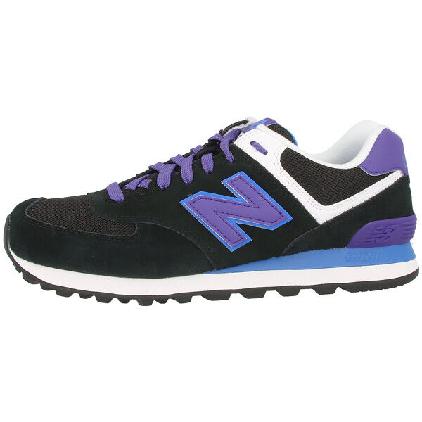 Zapatos promocionales para hombres y mujeres New Balance Wl 574 Mox Calzado mujer BLACK Púrpura wl574mox Zapatillas Negro