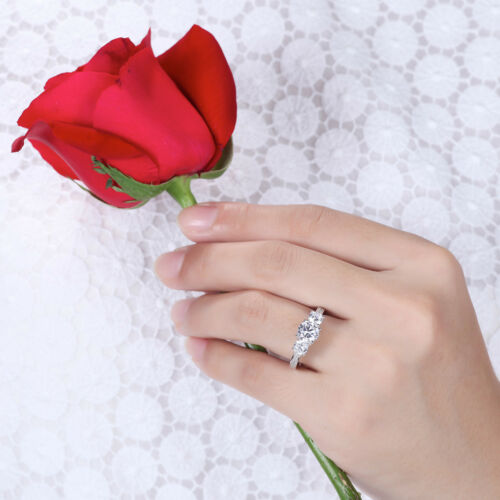 Argento Sterling 925 Donna Anello Trilogy Fedina Fidanzamento Matrimonio