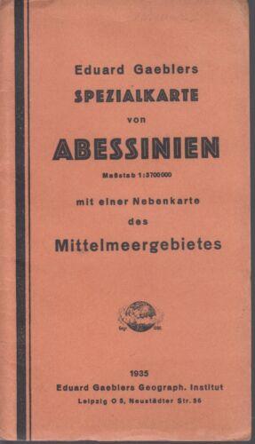 Abessinien Spezialkarte 1935