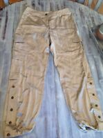 Women's Chicos Pants Size 1 Gold Silky Pants Ultimate Fit
