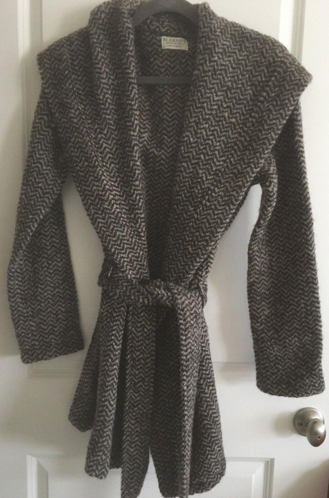 New Blarney Woollen Mills Women Bernie Hooded Coat S