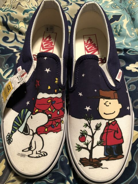 super cute sells new styles VANS Classic Slip-on Peanuts Charlie Brown Christmas Tree Size US 9 Mens