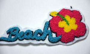 Beach surfing flower hawaii plush embroidered sew on