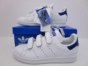 3fd5e2db8b2c0 Image is loading Adidas-Originals-Stan-Smith-CF-Velcro-Trainers-White-
