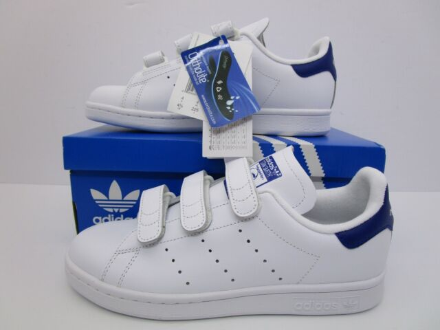 super popular b16b4 cee1d Adidas Originals Stan Smith CF Velcro Trainers White/Blue S80042 Size Mens  4.5US