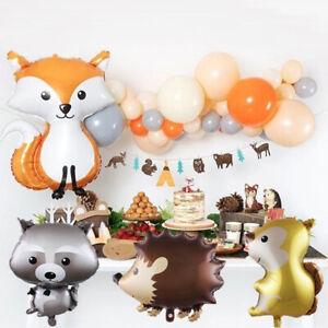 Cute Animal Balloons Hedgehog Fox Helium Balloon Birthday Party Decor Woodland Ebay