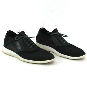 Cole-Haan-Men-039-s-9-5-Grand-Tour-Knit-Oxford-Black-Ivory-Casual-Shoes-C25259