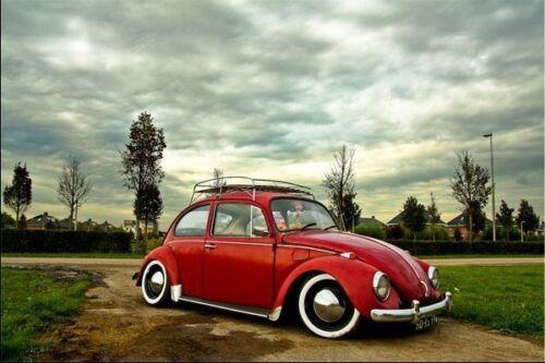 "Original ATLAS 15/"" White Wall Port a walls Tire Trim set of 4 VW BUG PRE BEETLE"