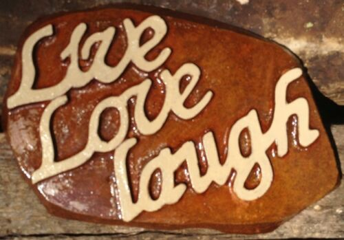 Live,Love,Laugh Rock, Stepping Stone, Concrete Mold, plastic mold, plaster