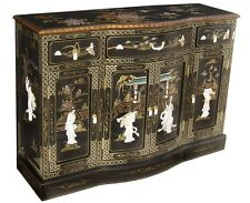 Item 1 Oriental Furniture Black Lacquer Cabinet 60 Chinese Cupboards Credenza