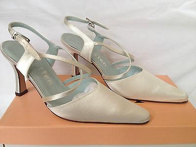 Marfil Bridal Dama Boda Zapatos todos los tamaños Pure & Preciosos Estilo Clover