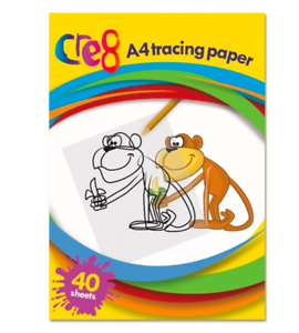 A4 Transparent Tracing Paper Pad Drafting 40 Sheets For School Office Drawing