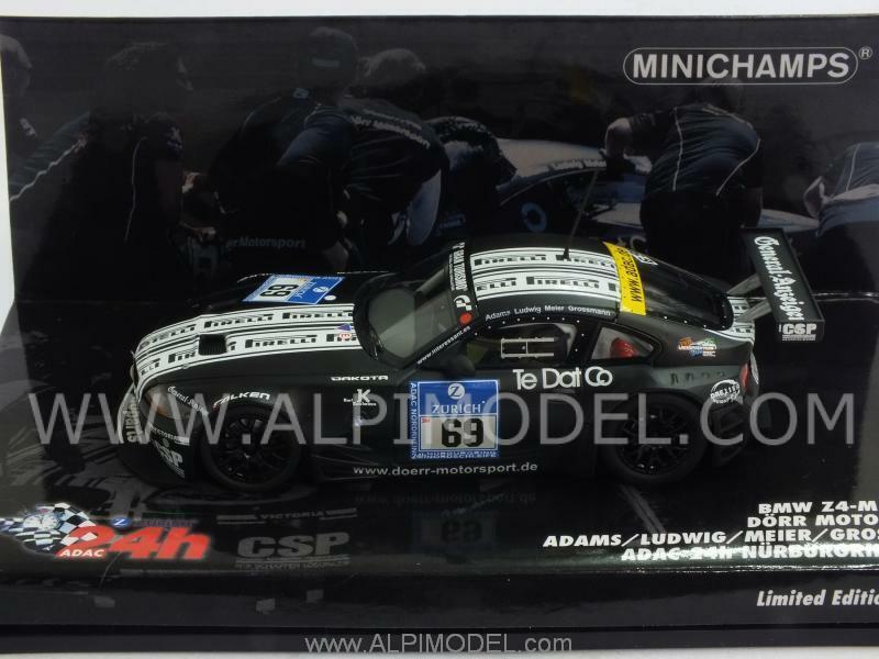 BMW Z4 M Coupe Pirelli Ludwig 24h Nurburgring 2009 1 43 MINICHAMPS 400092769