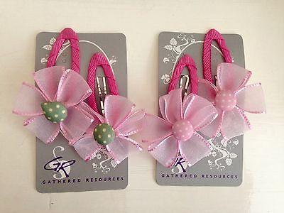 Baby Girl Hair Bow Clip Tie Butterflies Bunny Rabbit Bear Flower Set 20 Bulk Lot