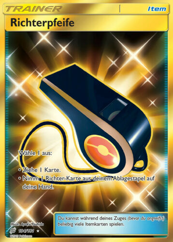 Richterpfeife Secret Rare DE NM Pokemon 194//181 SM9 Teams sind Trumpf