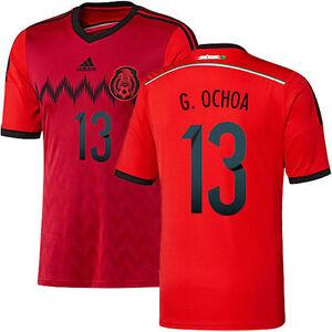 ADIDAS GUILLERMO OCHOA MEXICO AWAY JERSEY FIFA WORLD CUP BRAZIL 2014 ... 9f5c65ef1